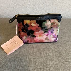 New! Ted Baker Floral Cosmetic Bag Case
